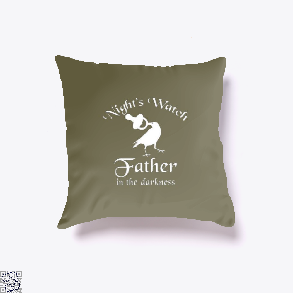 Nights Watch Inspired Game Of Thrones Throw Pillow Cover - Brown / 16 X - Productgenjpg