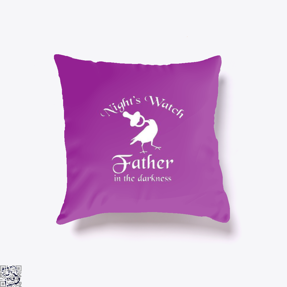 Nights Watch Inspired Game Of Thrones Throw Pillow Cover - Purple / 16 X - Productgenjpg