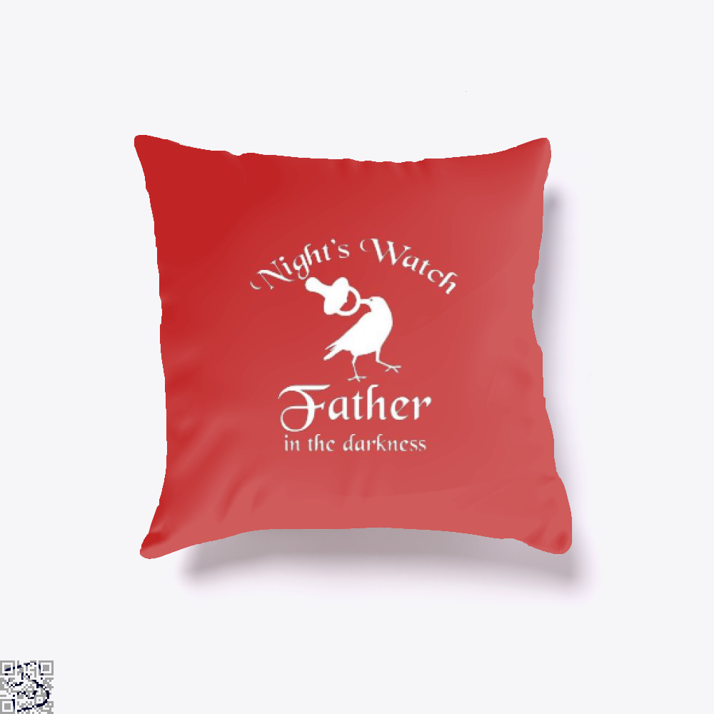 Nights Watch Inspired Game Of Thrones Throw Pillow Cover - Red / 16 X - Productgenjpg