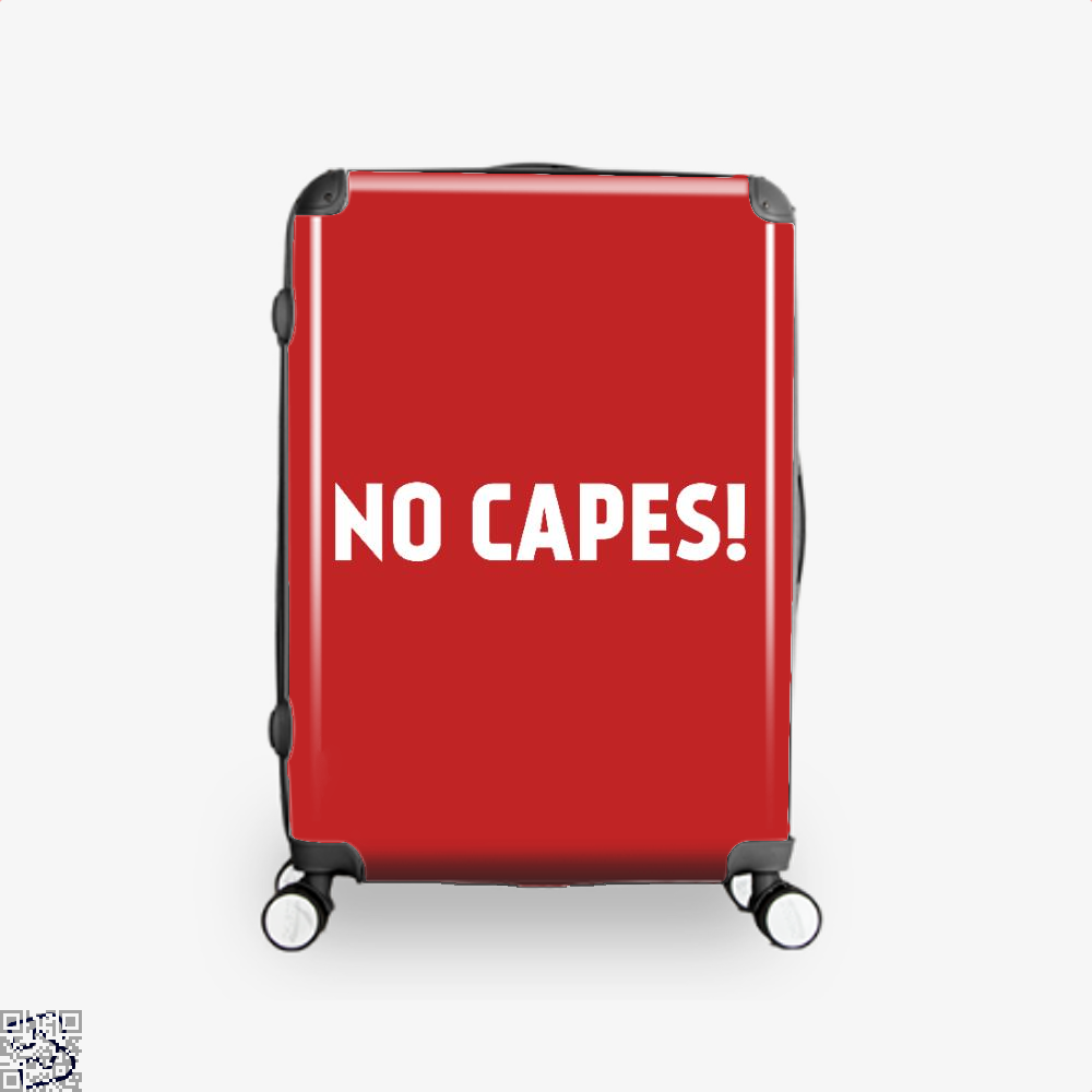 No Capes Incredibles Suitcase - Red / 16 - Productgenapi