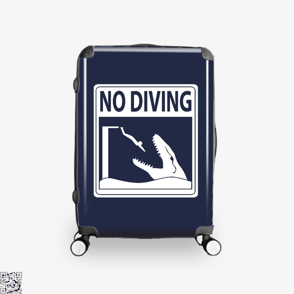 No Diving Jurassic World Suitcase - Blue / 16 - Productgenapi