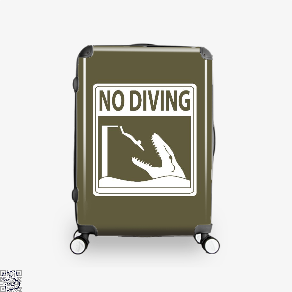 No Diving Jurassic World Suitcase - Brown / 16 - Productgenapi