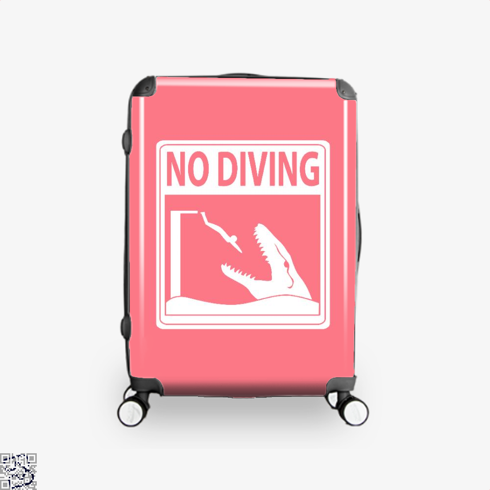 No Diving Jurassic World Suitcase - Pink / 16 - Productgenapi