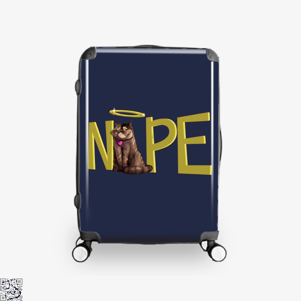 Nope Cat Suitcase - Blue / 16 - Productgenjpg