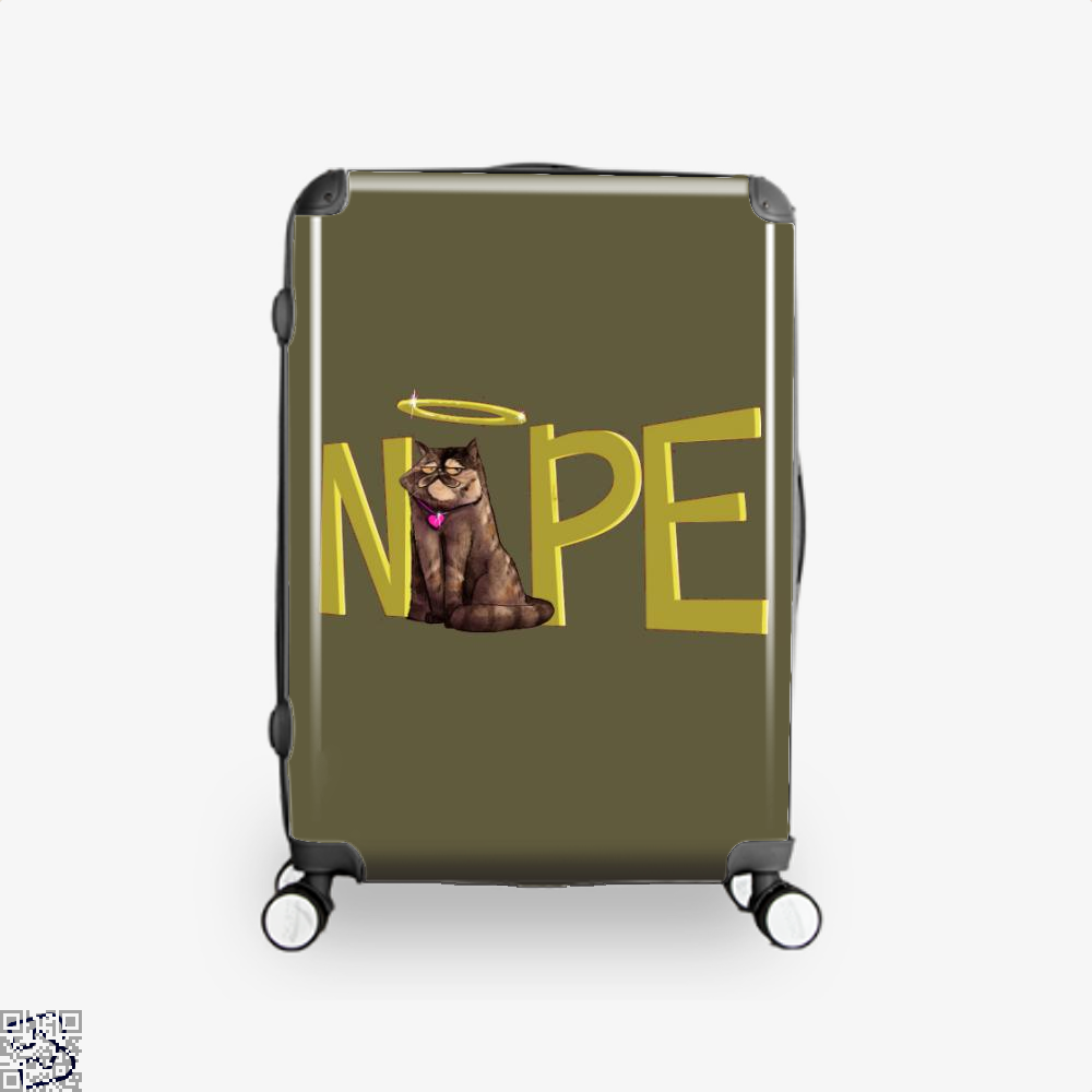 Nope Cat Suitcase - Brown / 16 - Productgenjpg