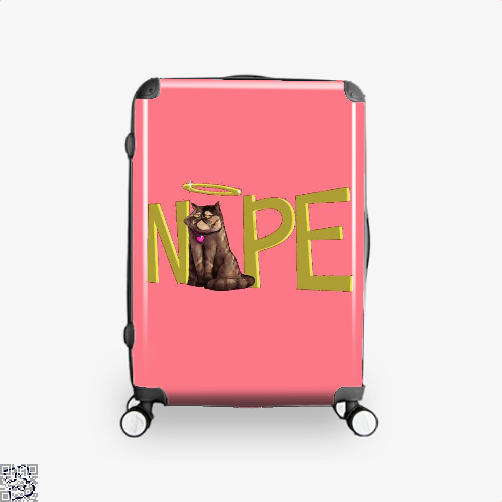 Nope Cat Suitcase - Pink / 16 - Productgenjpg