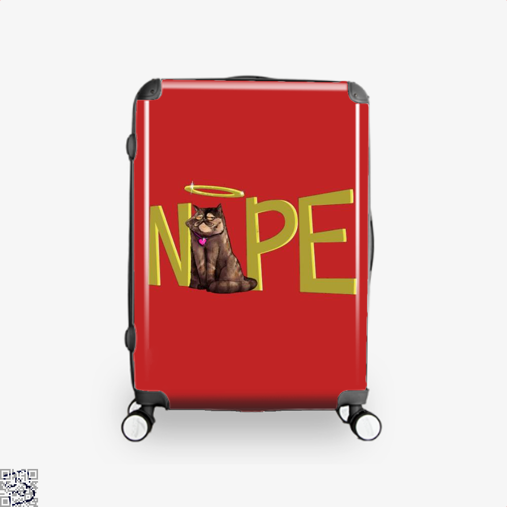 Nope Cat Suitcase - Red / 16 - Productgenjpg