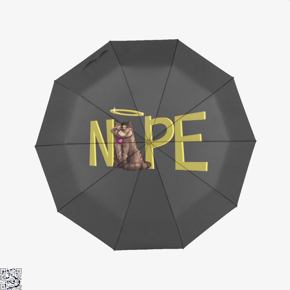 Nope Cat Umbrella - Black - Productgenjpg