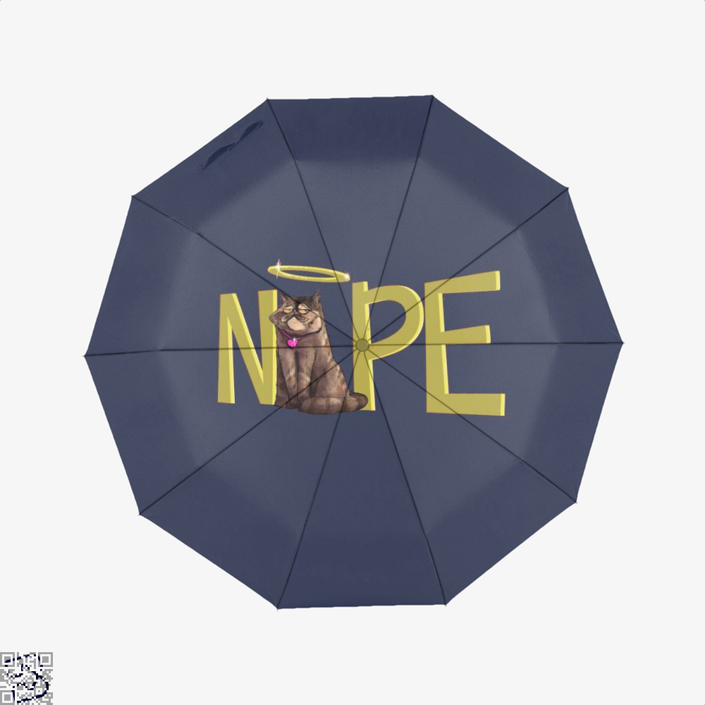 Nope Cat Umbrella - Blue - Productgenjpg