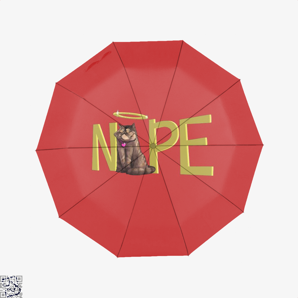 Nope Cat Umbrella - Red - Productgenjpg