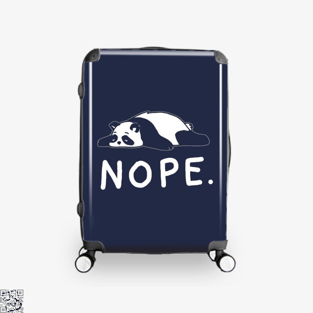 Nope Not Taday Lazy Panda Suitcase - Blue / 16 - Productgenjpg