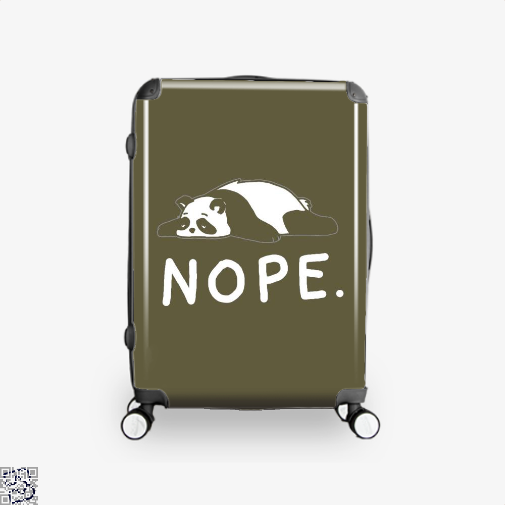 Nope Not Taday Lazy Panda Suitcase - Brown / 16 - Productgenjpg