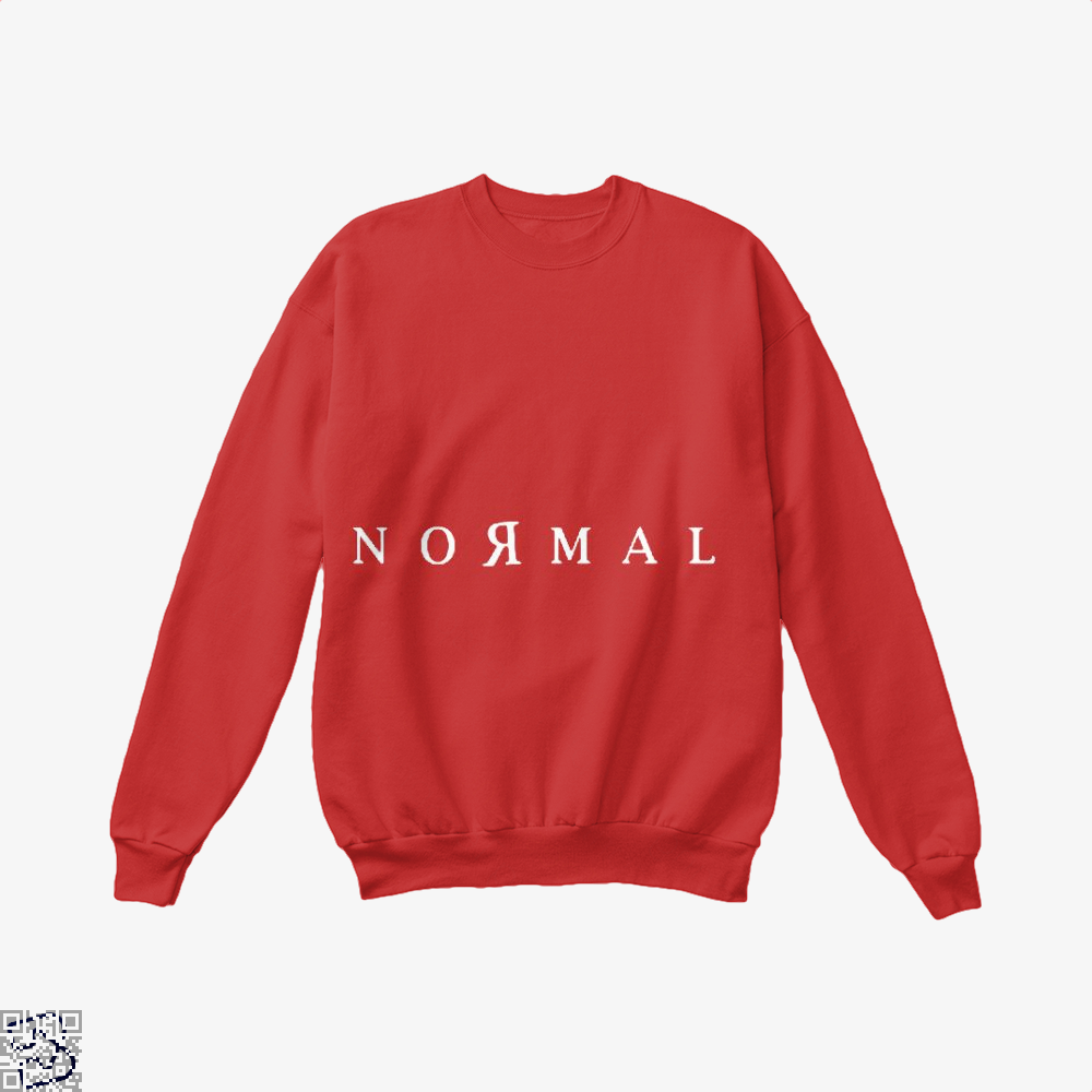 Normal Anti-Establishment Crew Neck Sweatshirt - Red / X-Small - Productgenapi