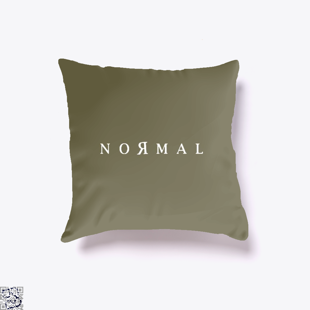 Normal Anti-Establishment Throw Pillow Cover - Brown / 16 X - Productgenapi