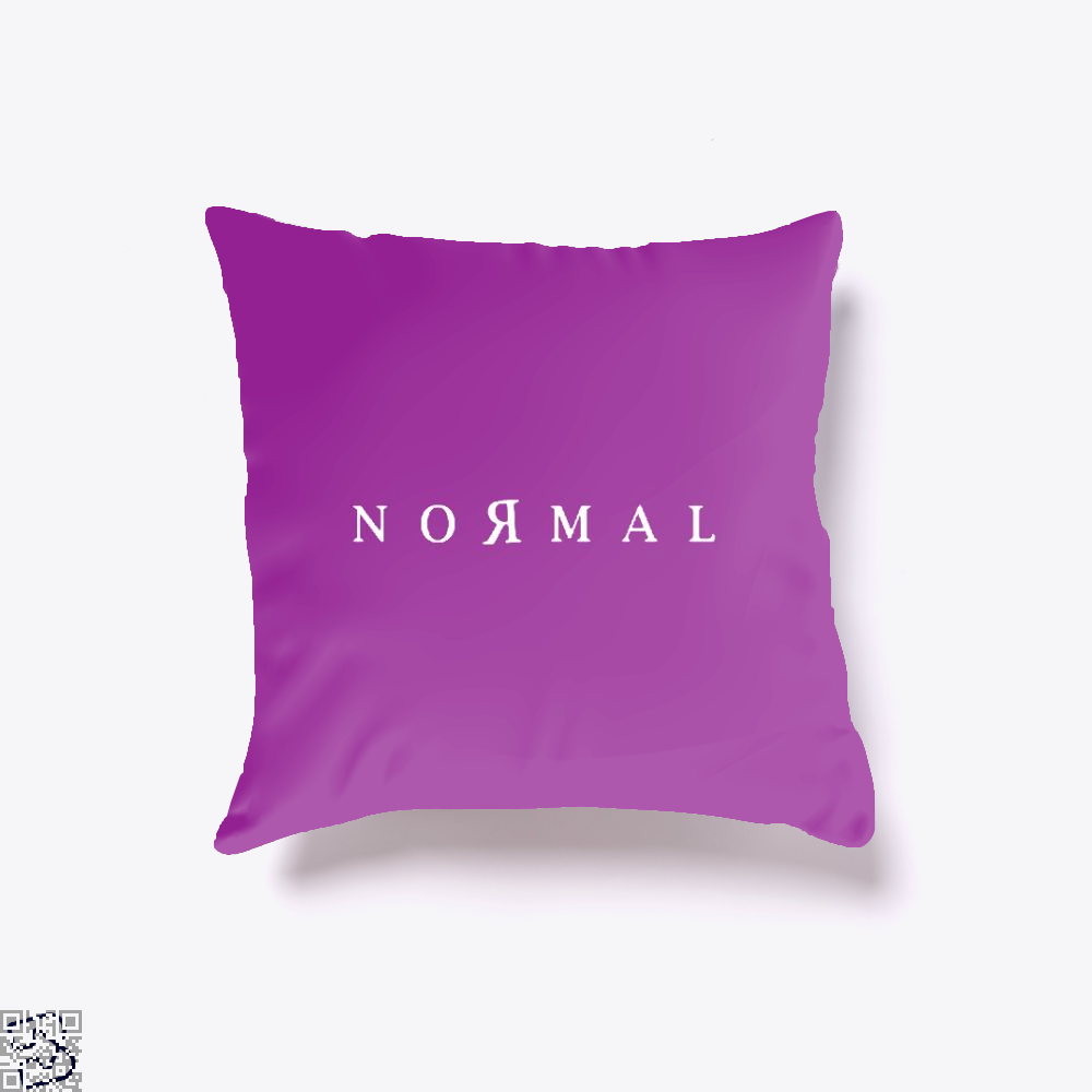 Normal Anti-Establishment Throw Pillow Cover - Purple / 16 X - Productgenapi