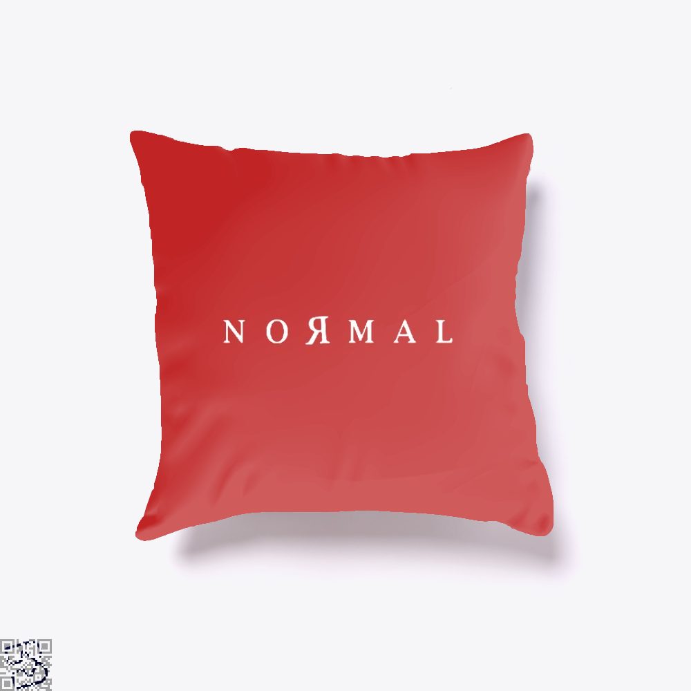 Normal Anti-Establishment Throw Pillow Cover - Red / 16 X - Productgenapi