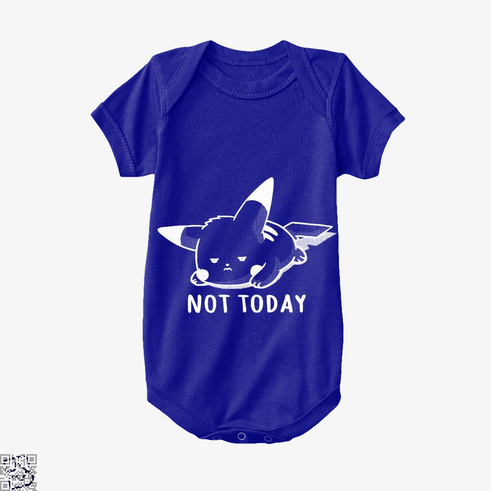 Not Today Pokemon Baby Onesie - Navy / 0-3 Months - Productgenapi