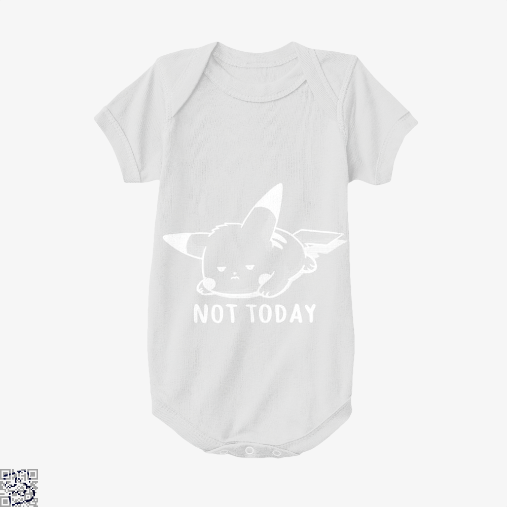 Not Today Pokemon Baby Onesie - White / 0-3 Months - Productgenapi