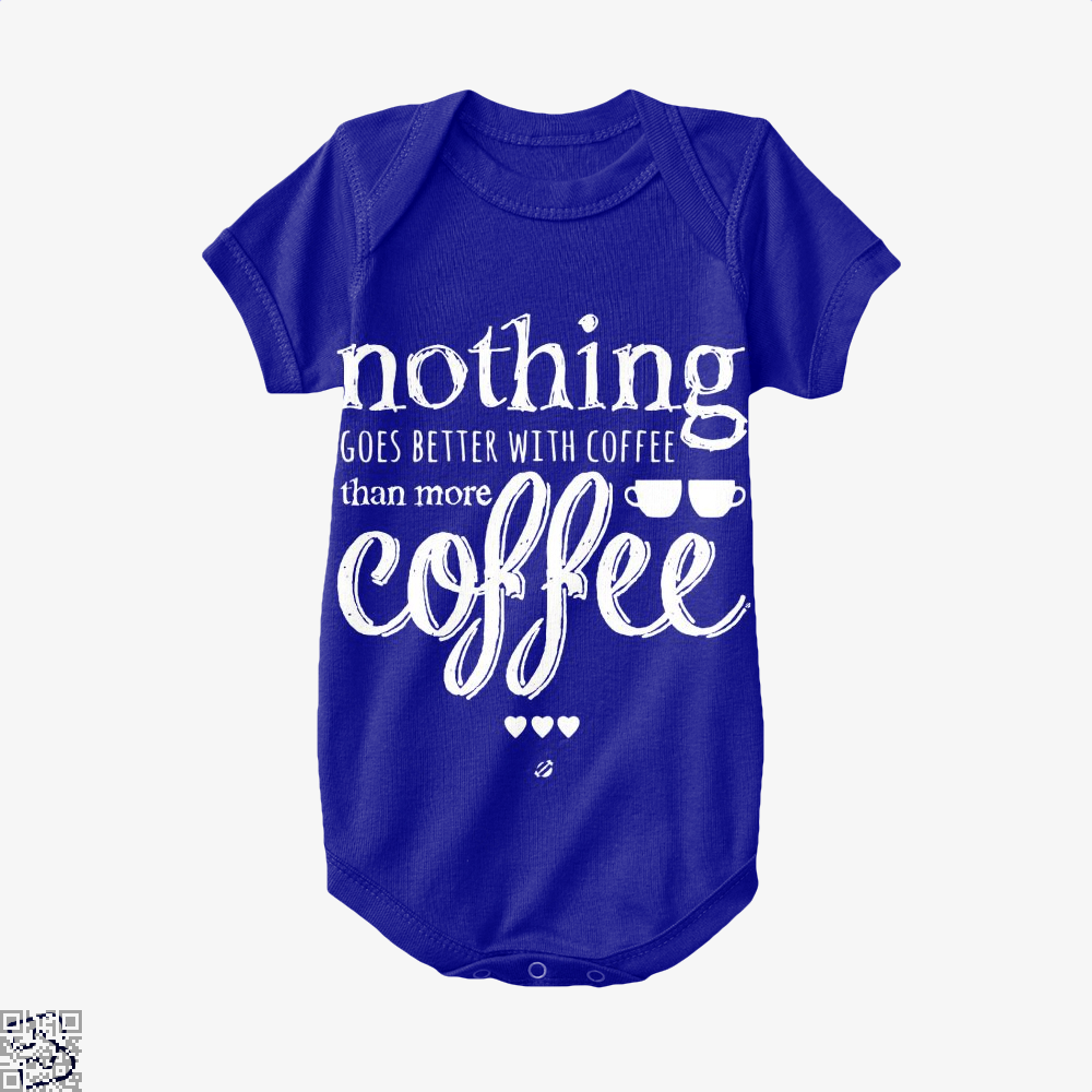 Nothing Goes Better With Coffee Baby Onesie - Navy / 0-3 Months - Productgenapi