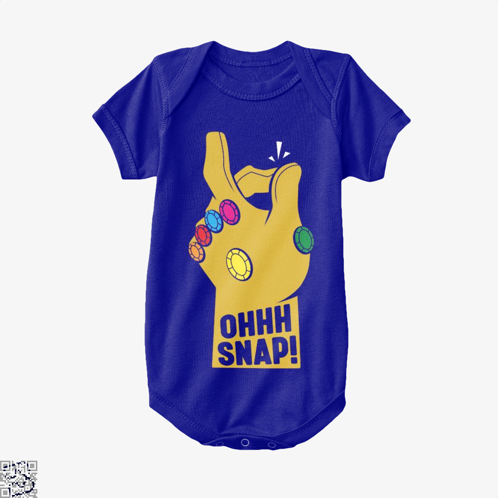 Ohhh Snap Fingers The Avengers Baby Onesie - Navy / 0-3 Months - Productgenapi