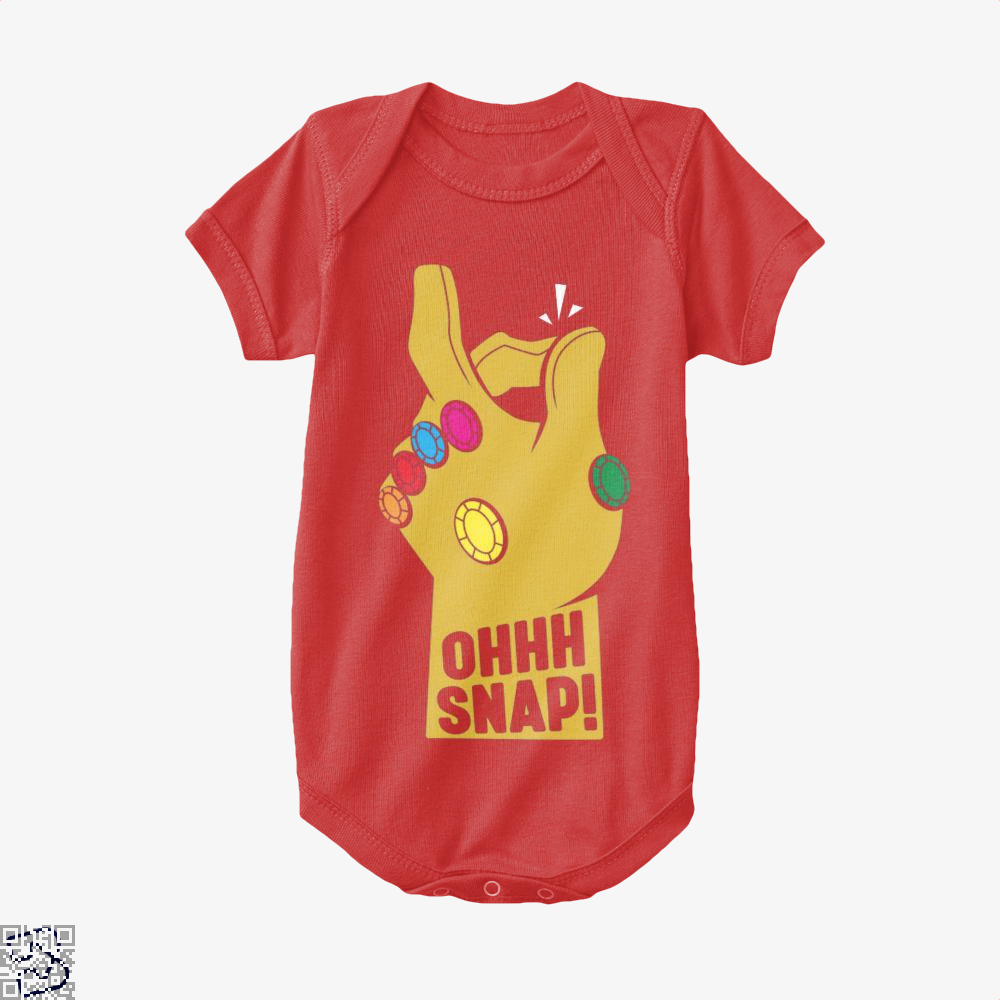 Ohhh Snap Fingers The Avengers Baby Onesie - Red / 0-3 Months - Productgenapi