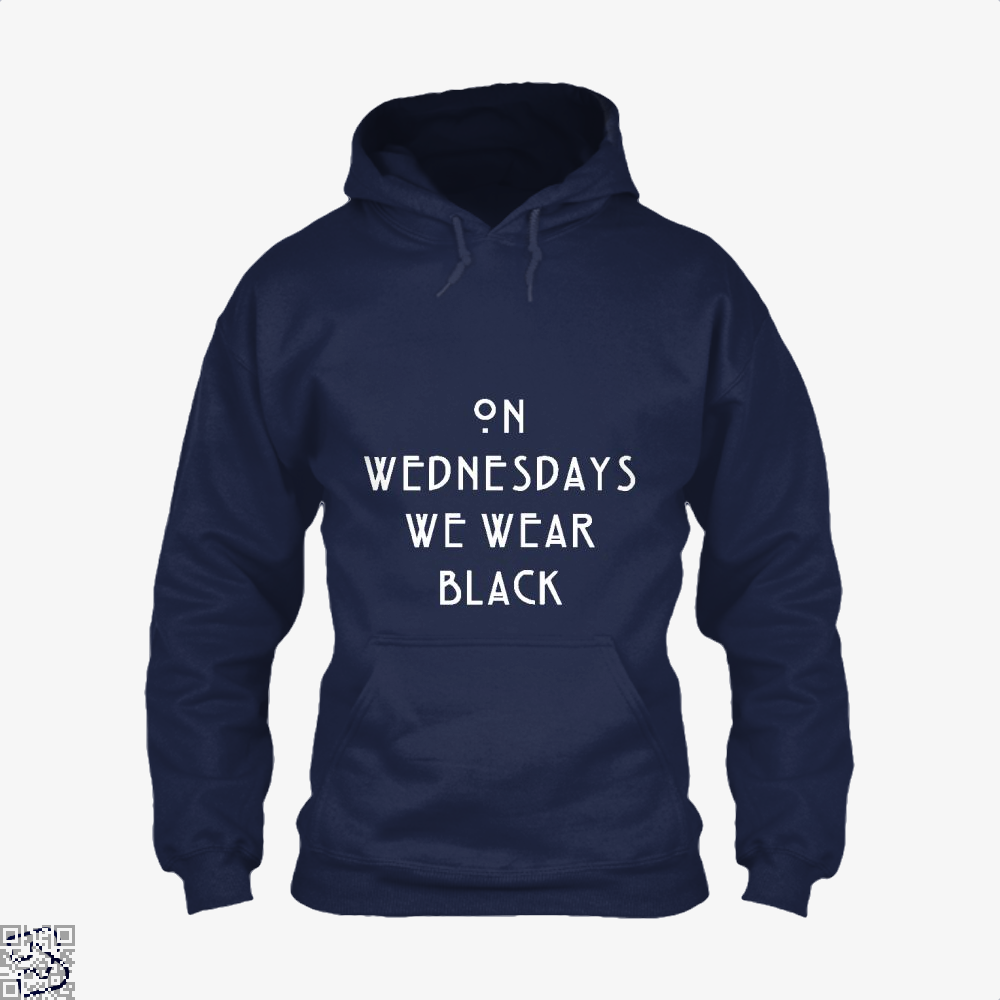 On Wednesdays We Wear Black Halloween Hoodie - Blue / X-Small - Productgenjpg