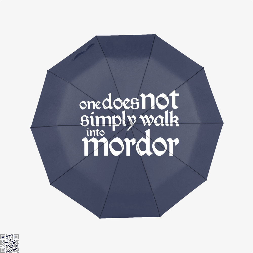 One Does Not Simply Lord Of The Rings Umbrella - Blue - Productgenapi
