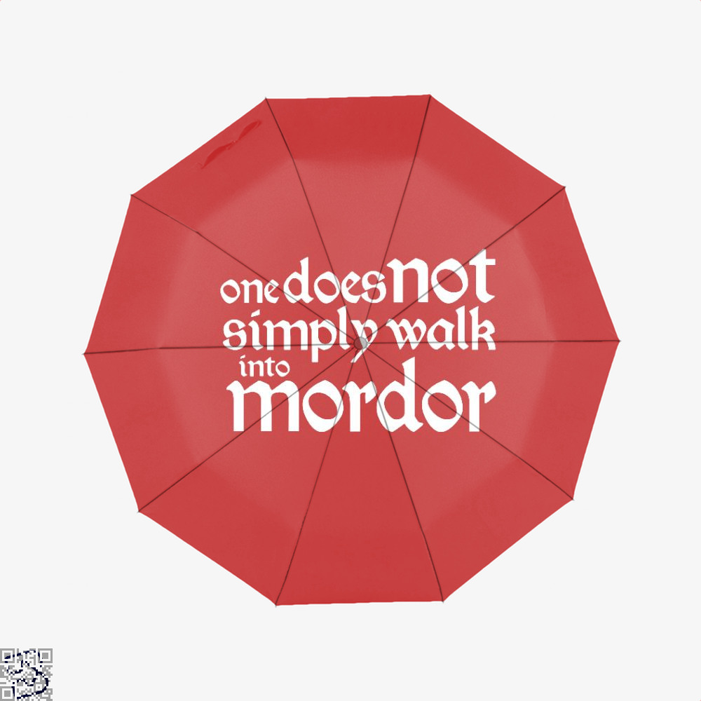 One Does Not Simply Lord Of The Rings Umbrella - Red - Productgenapi