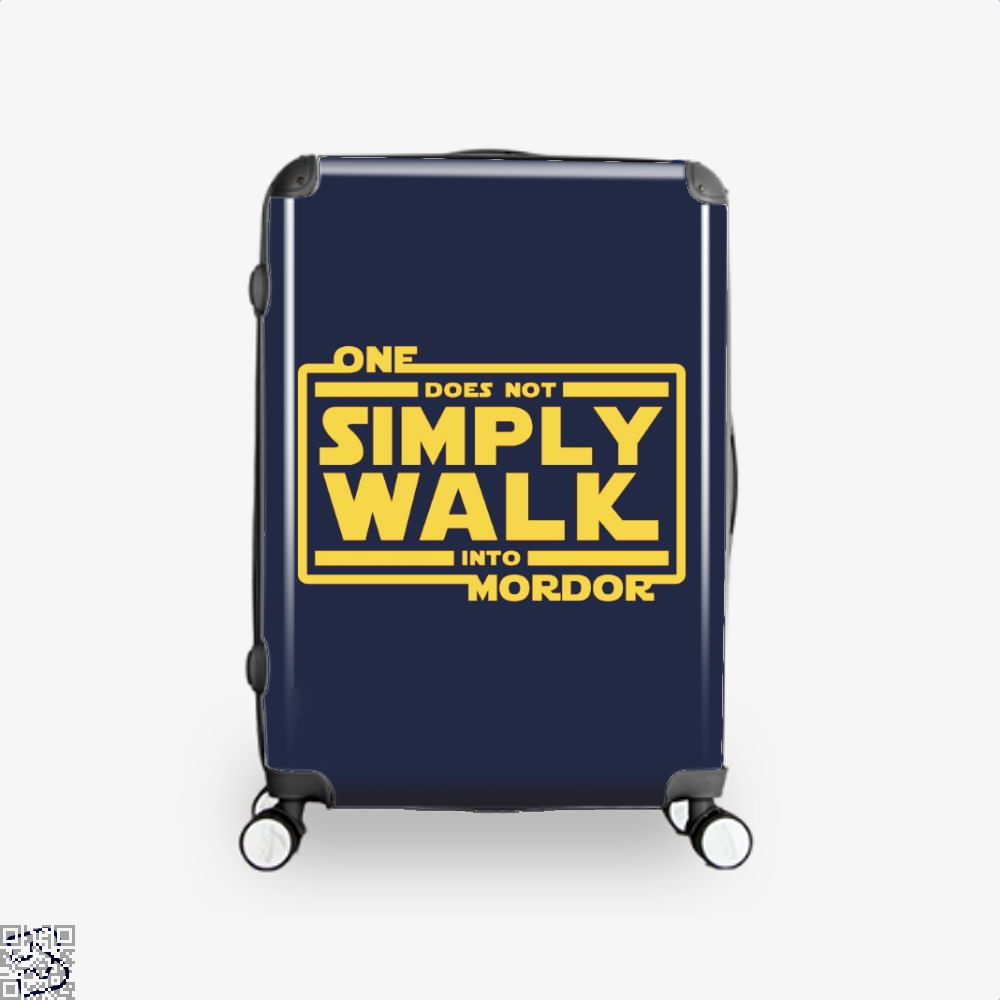 One Does Not Simply Walk Lord Of The Rings Suitcase - Blue / 16 - Productgenapi