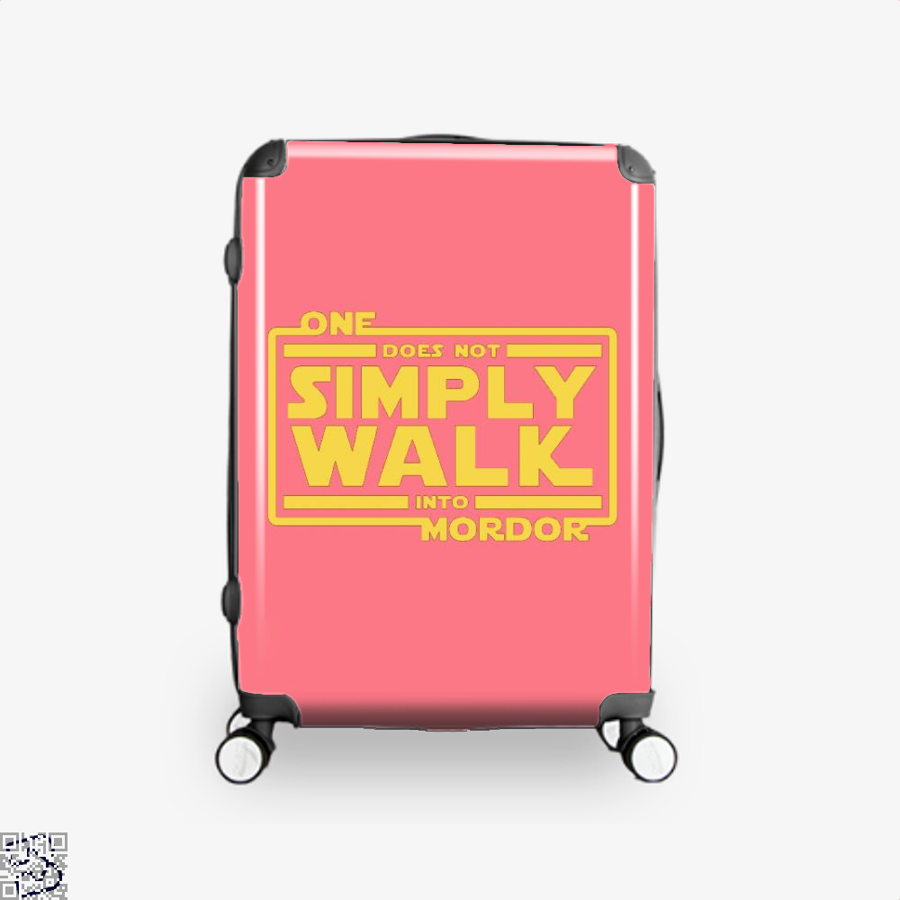 One Does Not Simply Walk Lord Of The Rings Suitcase - Pink / 16 - Productgenapi