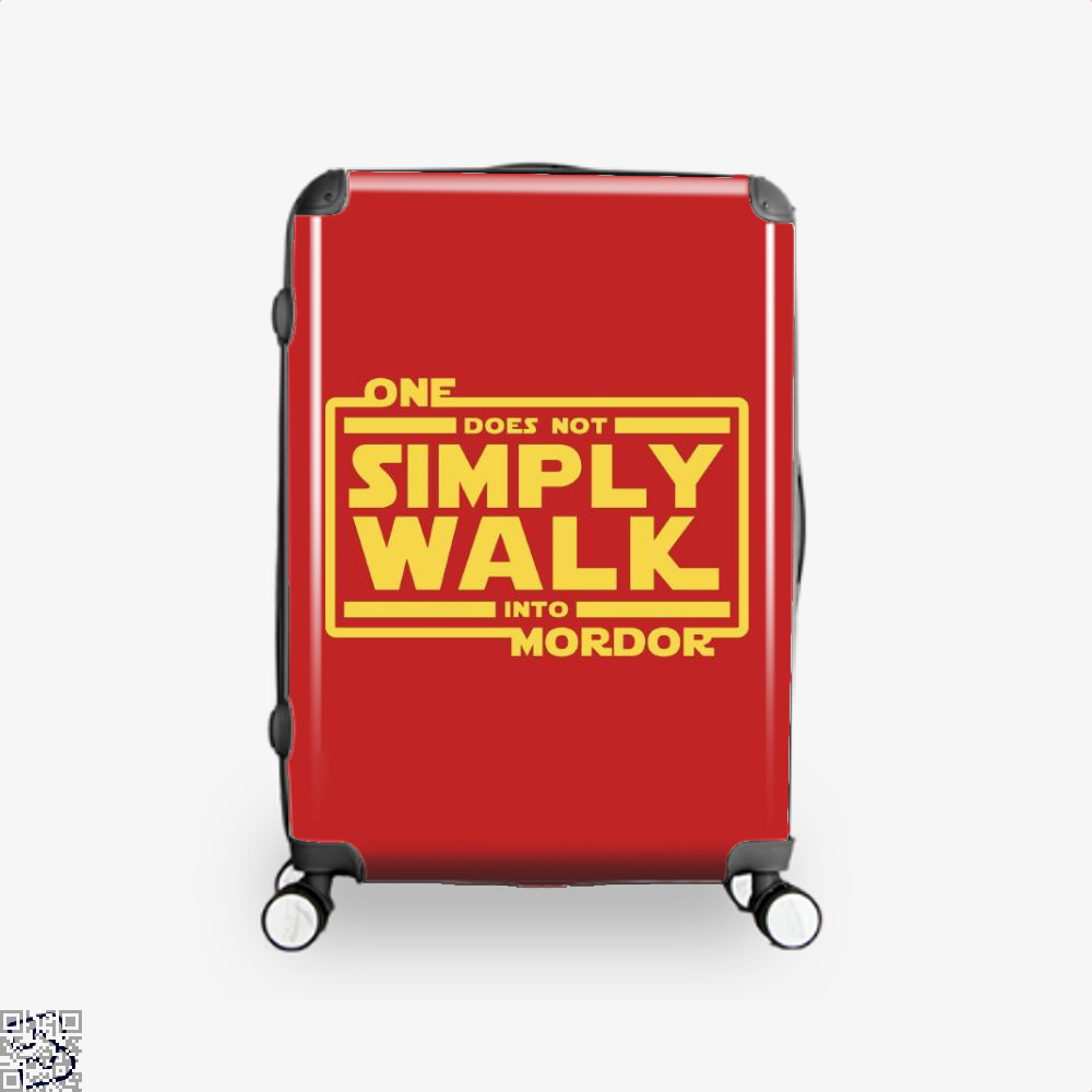 One Does Not Simply Walk Lord Of The Rings Suitcase - Red / 16 - Productgenapi