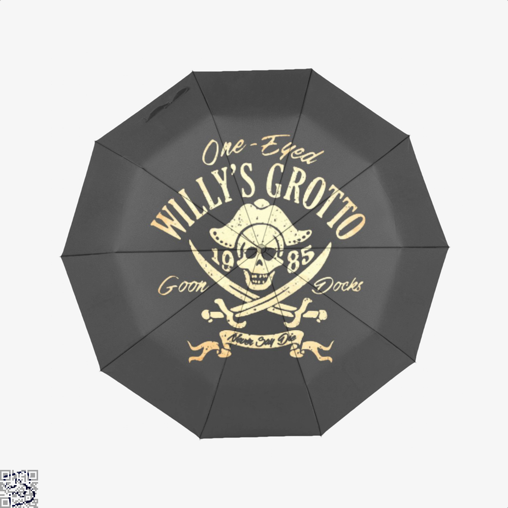 One-Eyed Willys Grotto 1985 Goon Docks Never Say Die The Goonies Umbrella - Black - Productgenapi