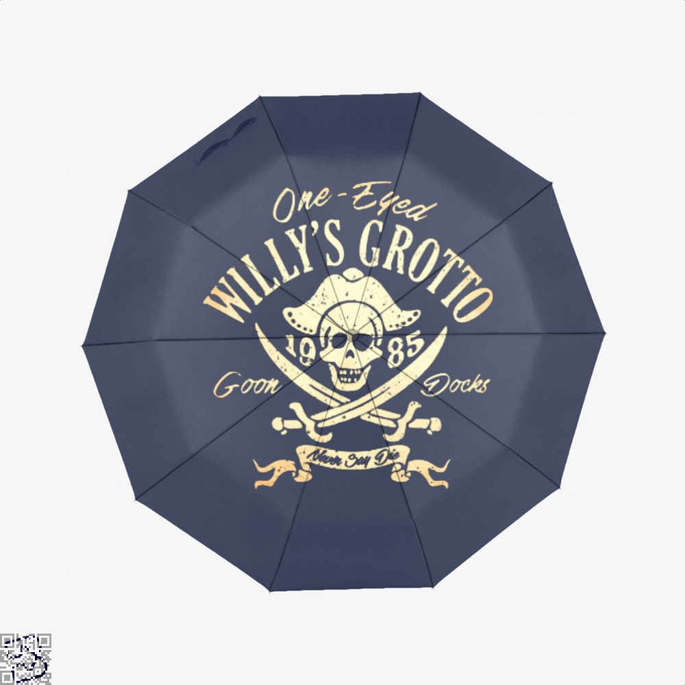 One-Eyed Willys Grotto 1985 Goon Docks Never Say Die The Goonies Umbrella - Blue - Productgenapi