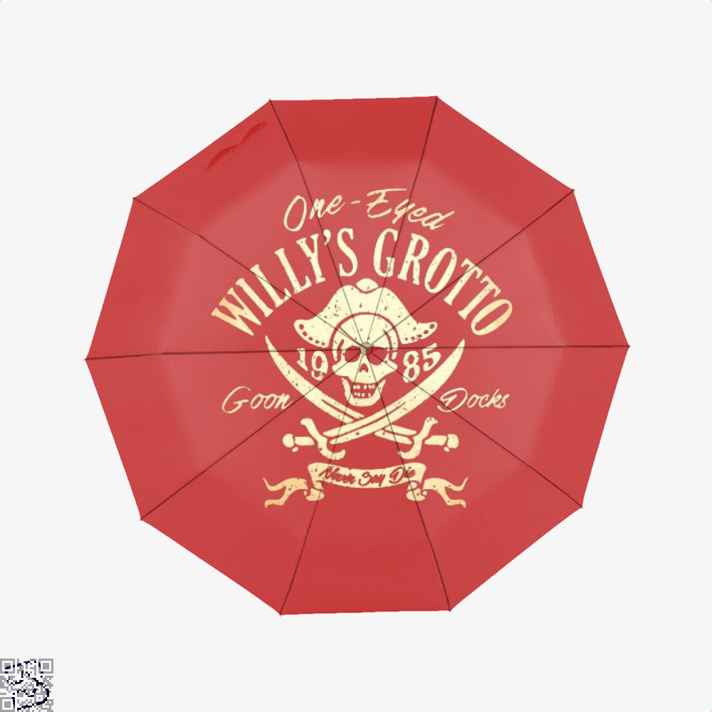 One-Eyed Willys Grotto 1985 Goon Docks Never Say Die The Goonies Umbrella - Red - Productgenapi