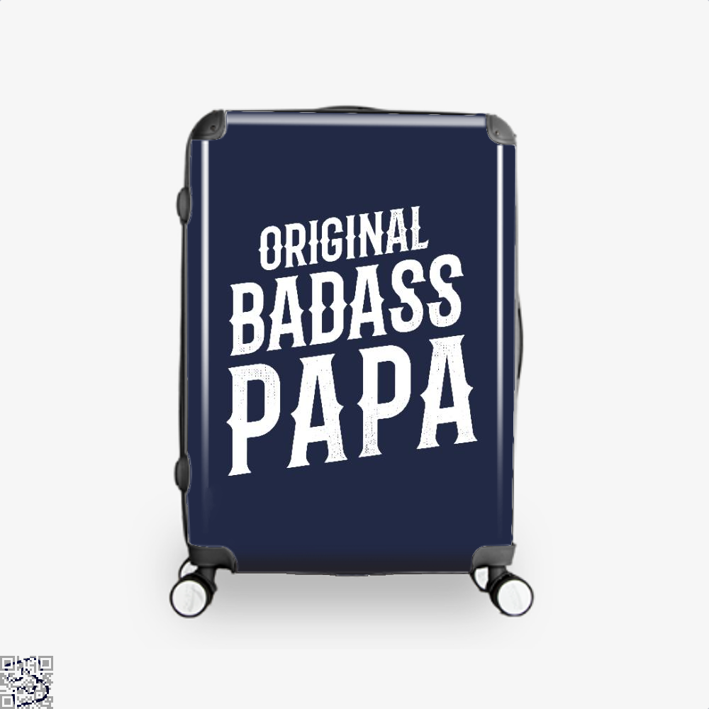 Original Badass Papa Fathers Day Suitcase - Blue / 16 - Productgenapi