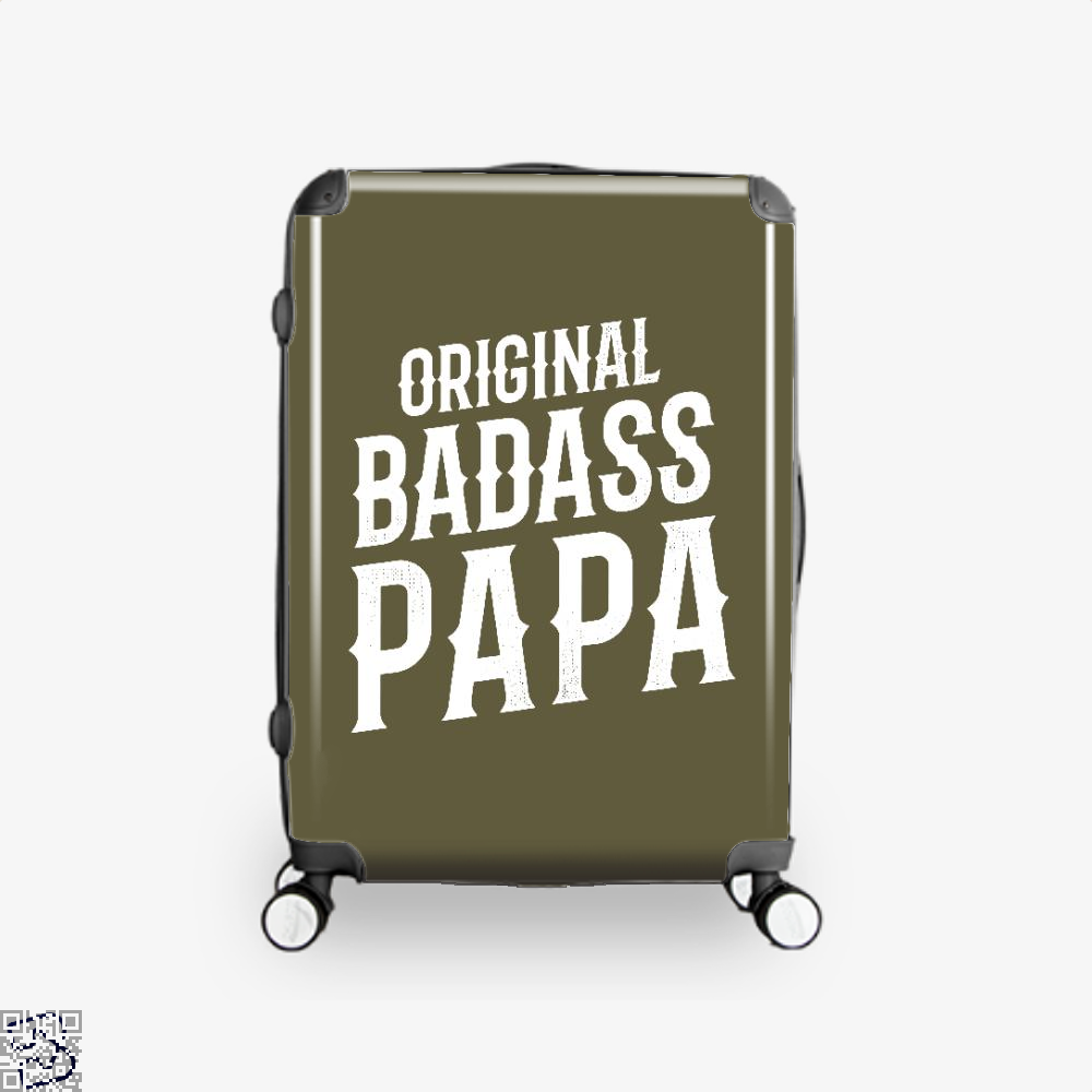 Original Badass Papa Fathers Day Suitcase - Brown / 16 - Productgenapi