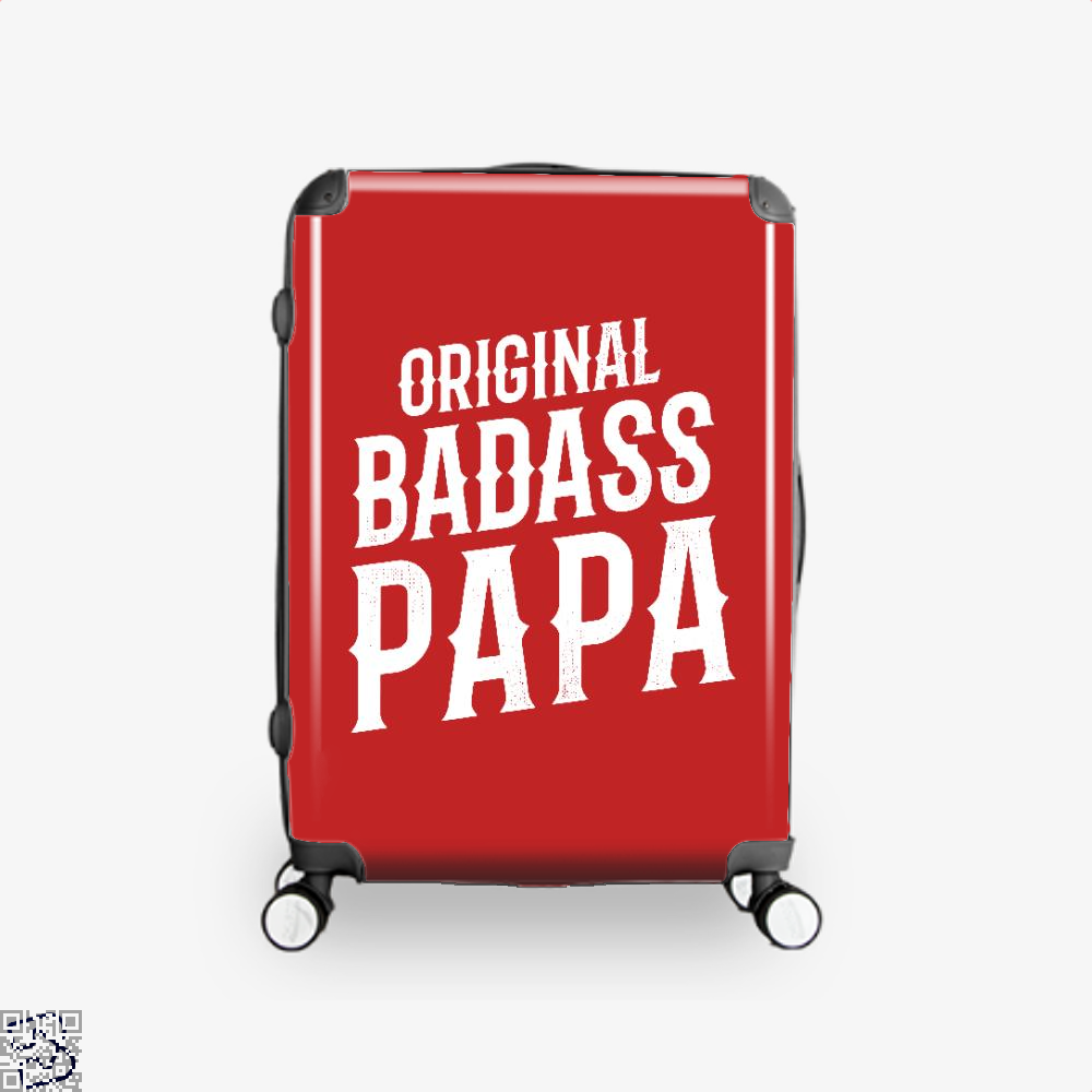 Original Badass Papa Fathers Day Suitcase - Red / 16 - Productgenapi