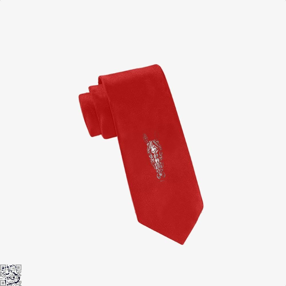 Ornate Horse Head Bw Tie - Red - Productgenjpg