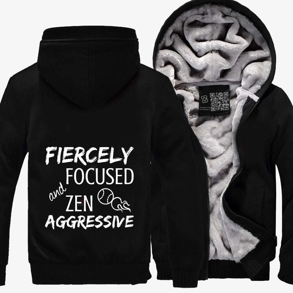 Fiercely Focused And Zen Aggressive Tennis, Tennis Fleece Jacket
