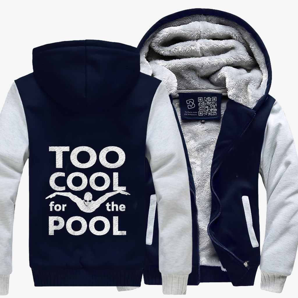 Too Cool For The Pool Mens Swimming, Swim Fleece Jacket