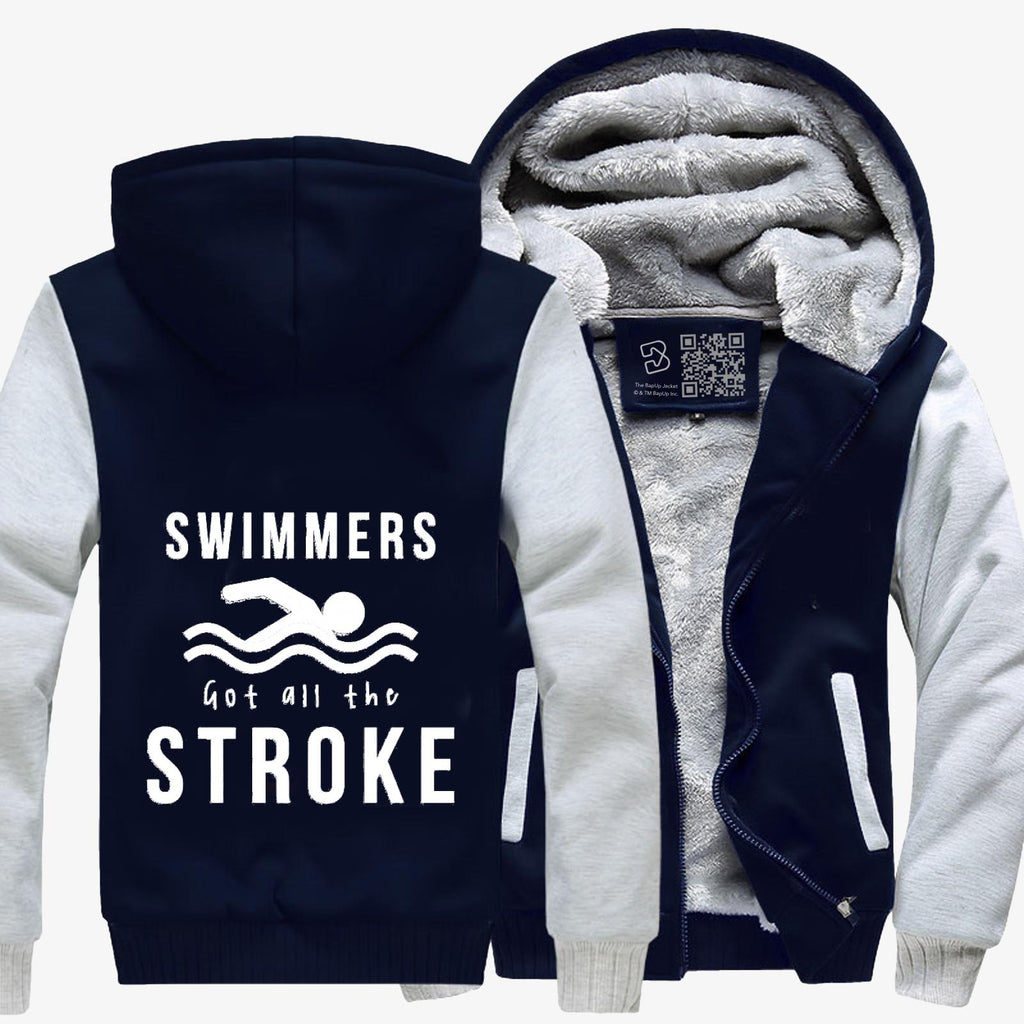 Swimmers Got All The Stroke, Swim Fleece Jacket