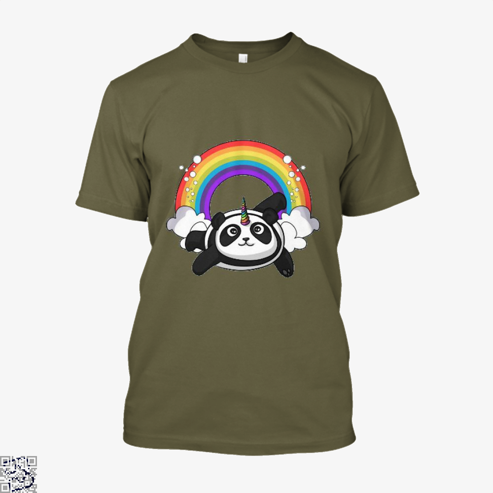 Pandicorn Unicorn Panda Bear Colorful Shirt - Men / Brown / X-Small - Productgenjpg