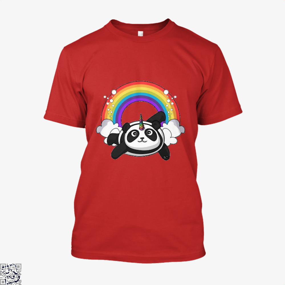 Pandicorn Unicorn Panda Bear Colorful Shirt - Men / Red / X-Small - Productgenjpg