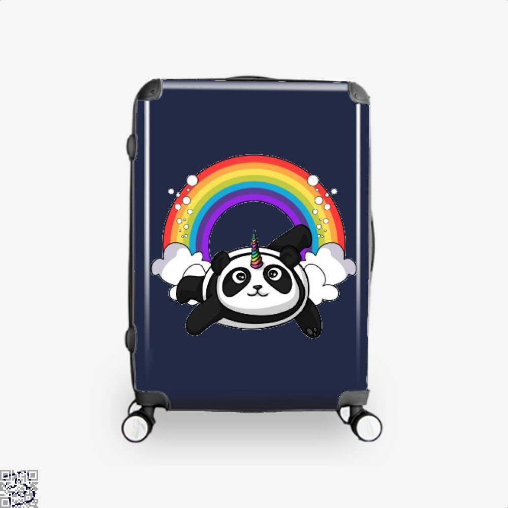 Pandicorn Unicorn Panda Bear Colorful Suitcase - Blue / 16 - Productgenjpg
