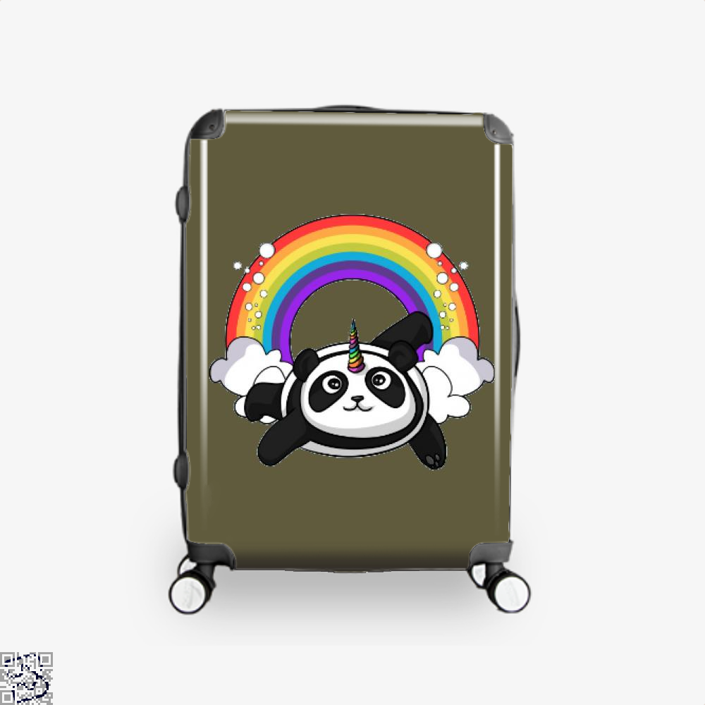 Pandicorn Unicorn Panda Bear Colorful Suitcase - Brown / 16 - Productgenjpg
