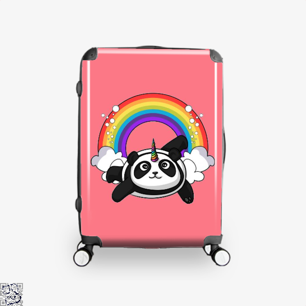 Pandicorn Unicorn Panda Bear Colorful Suitcase - Pink / 16 - Productgenjpg