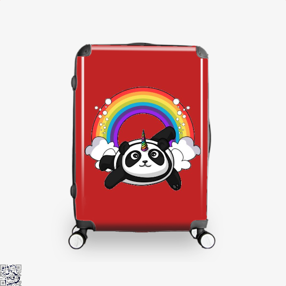 Pandicorn Unicorn Panda Bear Colorful Suitcase - Red / 16 - Productgenjpg