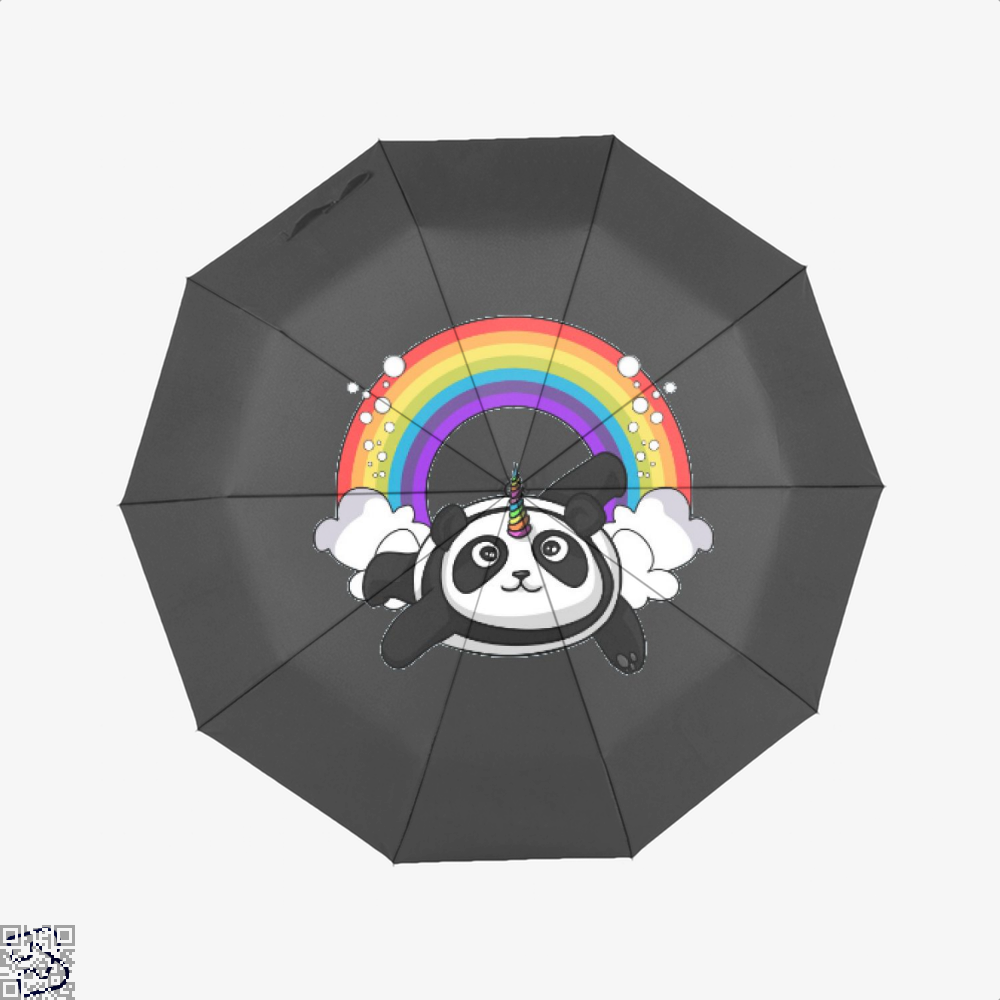 Pandicorn Unicorn Panda Bear Colorful Umbrella - Black - Productgenjpg
