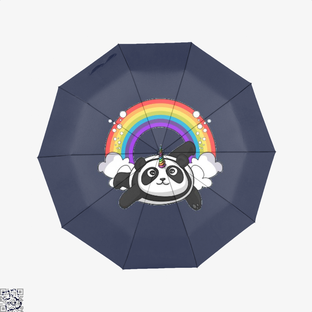 Pandicorn Unicorn Panda Bear Colorful Umbrella - Blue - Productgenjpg