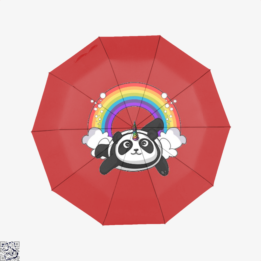 Pandicorn Unicorn Panda Bear Colorful Umbrella - Red - Productgenjpg